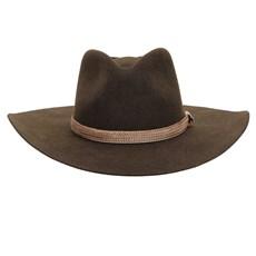 Chapéu Cavalgada de Feltro Marrom Texas Diamond 26282