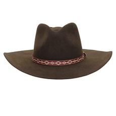 Chapéu Cavalgada de Feltro Marrom Texas Diamond 26283