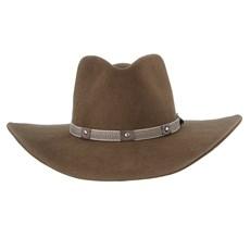 Chapéu Cavalgada de Feltro Marrom Texas Diamond 28492