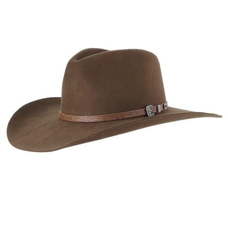 Chapéu Cavalgada de Feltro Marrom Texas Diamond 28493