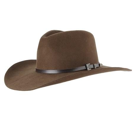 Chapéu Cavalgada de Feltro Marrom Texas Diamond 28494