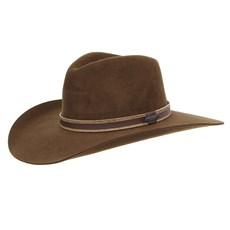 Chapéu Cavalgada de Feltro Marrom Texas Diamond 28819