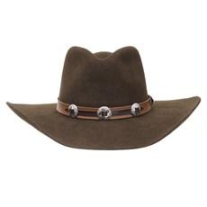 Chapéu Cavalgada de Feltro Marrom Texas Diamond 30083