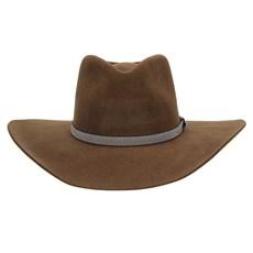 Chapéu Cavalgada de Feltro Marrom Texas Diamond Bandinha Bicolor 28817