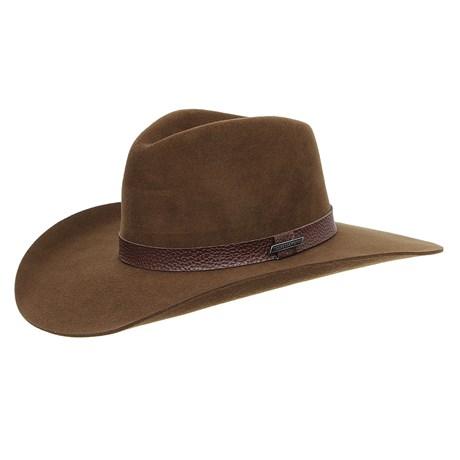Chapéu Cavalgada de Feltro Marrom Texas Diamond Bandinha Marrom 28818
