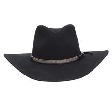 Chapéu Cavalgada Preto de Feltro Texas Diamond 25251