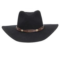 Chapéu Cavalgada Preto de Feltro Texas Diamond 25255