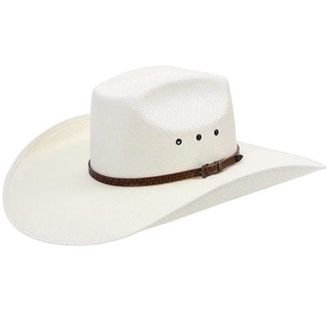 Chapéu Com Bandinha de Couro Copa Quadrada Texas Diamond 21087