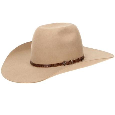 Chapéu Copa Alta de Feltro Bege Texas Diamond 20830