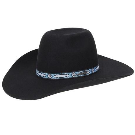 Chapéu Copa Alta Feltro Preto Texas Diamond 20769