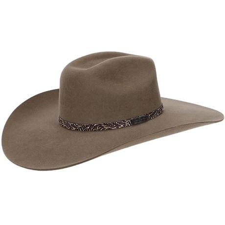 Chapéu Copa Quadrada Aba Larga Castor Texas Diamond 21027