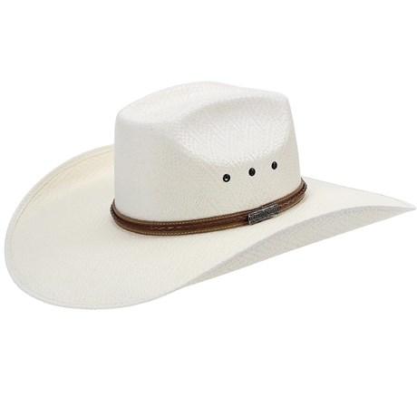 Chapéu Copa Quadrada Com Trança e Ilhos Texas Diamond 21094