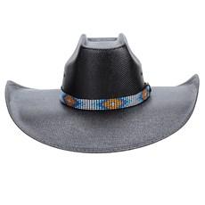 Chapéu Copa Quadrada Preto Texas Diamond 22972