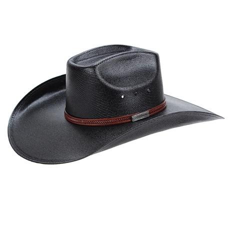 Chapéu Copa Quadrada Preto Texas Diamond 22976