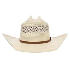 Chapéu Country 20X Amarelo Rendado Bandinha Caramelo com Fivela Texas Diamond 28872