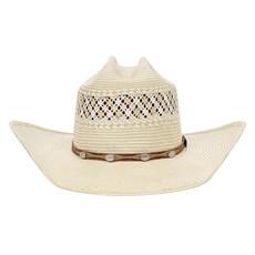 Chapéu Country 20X Amarelo Rendado e Bandinha com Apliques Texas Diamond 28870