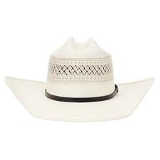 Chapéu Country 20X Rendado Bandinha Preta com Fivela Texas Diamond 28902