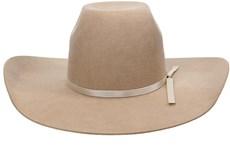 Chapéu Country Bege Texas Diamond Com Bandinha Pérola 21123