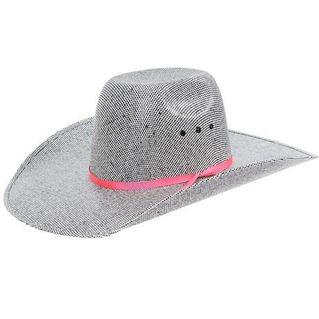 Chapéu Country Carijó Com Fita Rosa Texas Diamond 21109