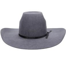 Chapéu Country Cinza Copa Alta Com Fita Preta Texas Diamond 21120