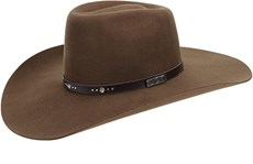 Chapéu Country Com Bandinha de Strass Marrom Texas Diamond 21019