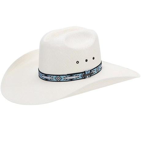 Chapéu Country Com Fita Azul Texas Diamond Aba Larga 21066