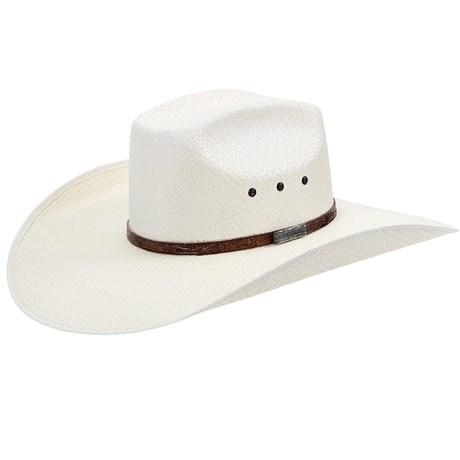 Chapéu Country Copa Quadrada Badinha de Couro Texas Diamond 21086