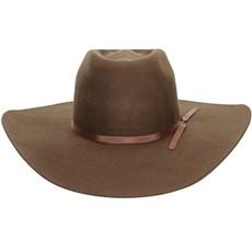 Chapéu Country de Feltro Com Fita Marrom Texas Diamond 21018