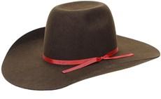 Chapéu Country de Feltro Marrom Aba Larga Texas Diamond 21130