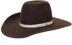 Chapéu Country de Feltro Marrom Copa Alta Texas Diamond 20841
