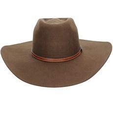 Chapéu Country de Feltro Marrom Texas Diamond Copa Alta 21008