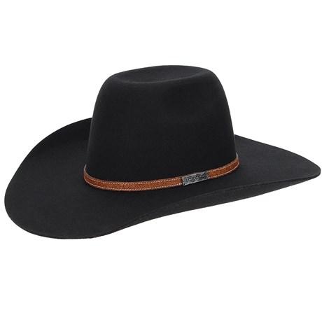 Chapéu Country de Feltro Preto Texas Diamond 20770