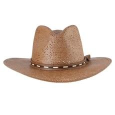 Chapéu Country de Palha Marrom Texas Diamond 28648