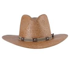 Chapéu Country de Palha Marrom Texas Diamond 28649