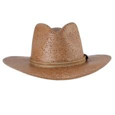 Chapéu Country de Palha Marrom Texas Diamond 28650