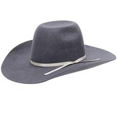 Chapéu Country em Feltro Cinza Com Bandinha de Fita Texas Diamond 21119