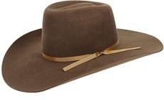 Chapéu Country Feltro Marrom Bandinha de Fita Dourada Texas Diamond 21015