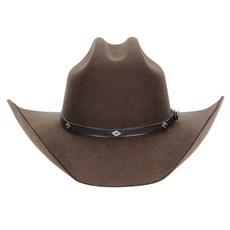 Chapéu Country Feltro Marrom Texas Diamond 6X 29880
