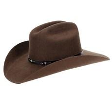 Chapéu Country Feltro Marrom Texas Diamond 6X 29881