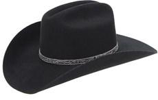 Chapéu Country Feltro Preto Estilo Americano Texas Diamond 21030