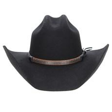 ... Chapéu Country Preto 6X Texas Diamond Feltro 22847 a2658d54618