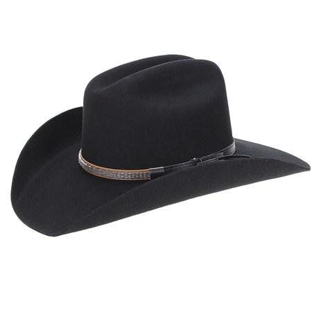 Chapéu Country Preto 6X Texas Diamond Feltro 22847