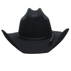 Chapéu Country Preto 6X Texas Diamond Feltro 25225