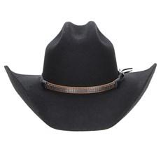 Chapéu Country Preto 6X Texas Diamond Feltro 28936