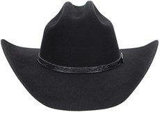 Chapéu Country Preto Com Bandinha de Couro Texas Diamond Feltro 21029