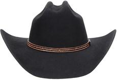 Chapéu Country Preto de Feltro Com Banda de Couro Texas Diamond 21033