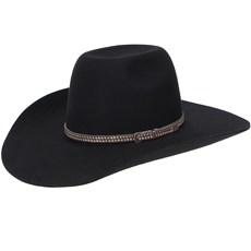 Chapéu Country Preto de Feltro Texas Diamond 20832
