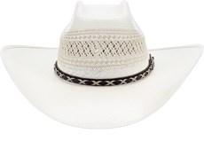 Chapéu Country Ventilado Copa Quadrada Shantung 20X Texas Diamond 21438