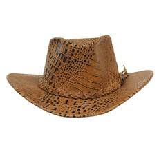 Chapéu de Couro Caramelo Estampado Texas Diamond 29327