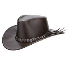 Chapéu de Couro Liso Marrom Texas Diamond 25291